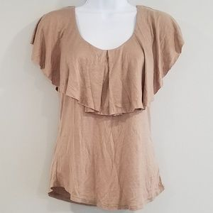 Ollie & Chloe by Jolie Small Taupe Women's Top